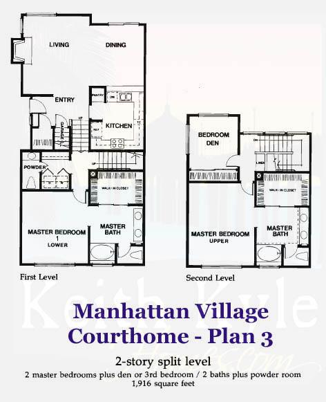 Manhattan Village Court Home Plan 3 Manhattan Village Homes For Sale