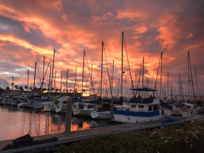 King harbor sunset